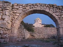 About 3 kilometers (2 miles) outside of Sevastopol are these ancient Greek Ruins. They are known as the Russian Troy, and display signs of Roman and Byzantine culture along with Greek