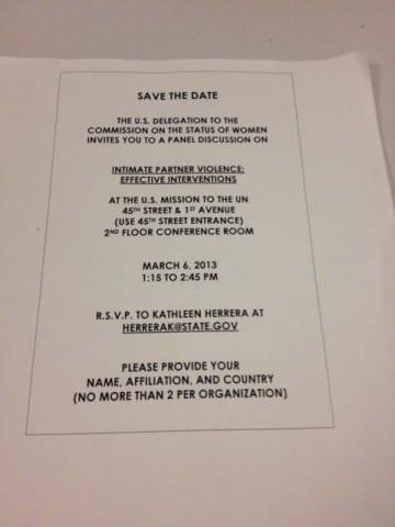 Event invitation #CSW57