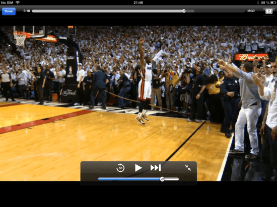 Snapshot #8 Micro-Movie Game 7 of the NBA Finals