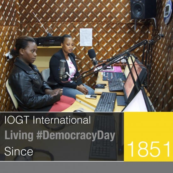 """""""lets get the tv and the radio to play our tune again its 'bout time we got some airplay of our version of events"""" #DemocracyDay"""