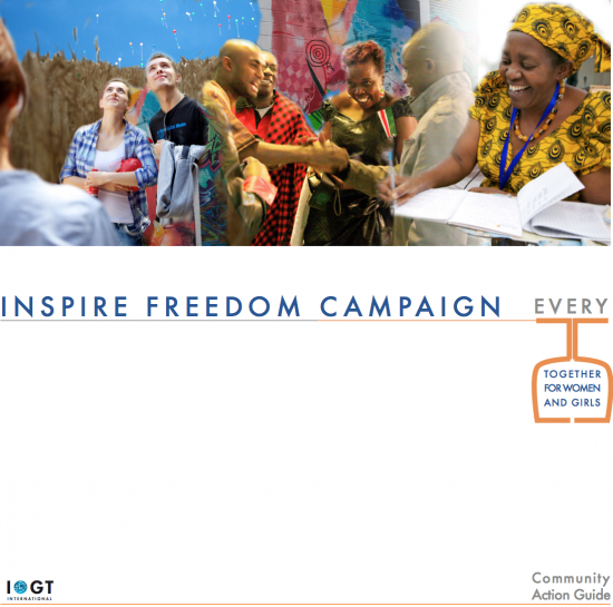 Cover of the brand new Community Action Guide #InspireFreedom
