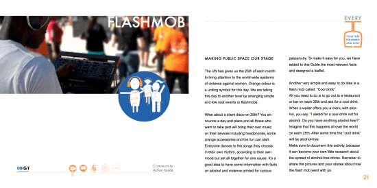Flashmob creatively to raise awareness and #InspireFreedom