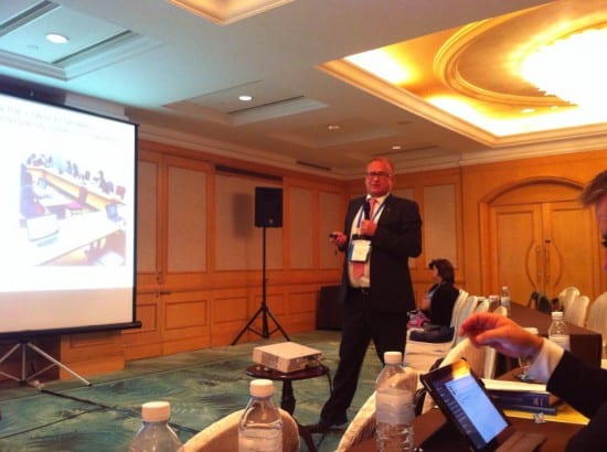 Sven-Olov Carlsson addressing the IFNGO/OFAP conference in Macau on tobacco and alcohol policy.