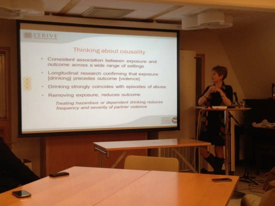 Causality between alcohol and gender-based violence, explained by Lori Heise