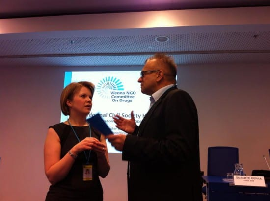 Fay Watson of EURAD and myself in a discussion #CND2014