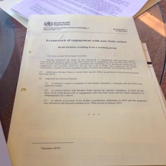 #WHA67 agenda item 11.3