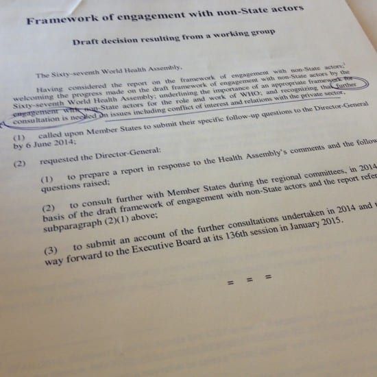 Draft decision resulting from a working group...