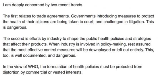 Dr Margaret Chan, Director General, World Health Organization