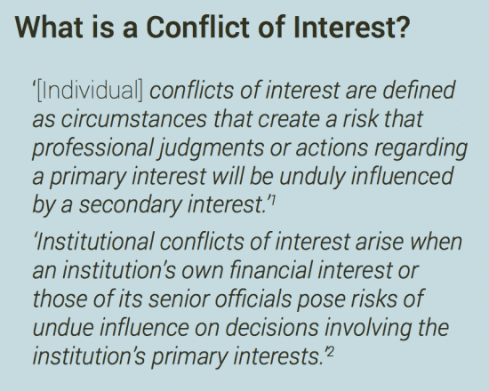 Conflict of interest #CoI