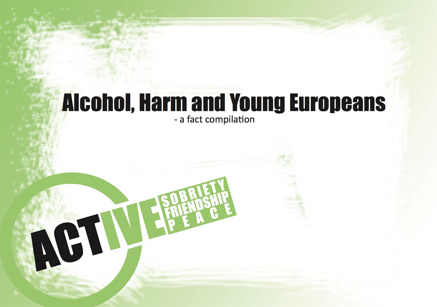 FactSheet Alcohol Harm Young European
