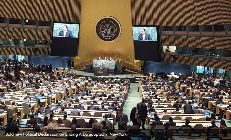 Michel Sidibe addressing the UN High Level Meeting