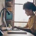 Physical distancing online virtual digital meeting laptop