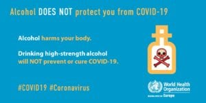 WHO Europe alcohol covid19 advice