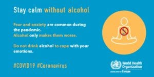 WHO Europe alcohol covid19 advice