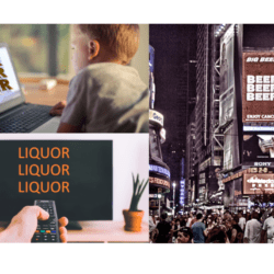 Alcohol advertising avalanche TV Online Digital public space times square marketing